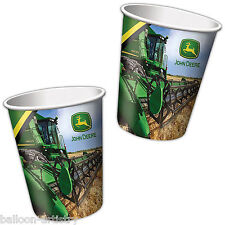 8 John Deere Farm Tractor Birthday Party Disposable 9oz Paper Cups