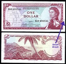 EAST CARIBBEAN STATES P13a SIG#2***1 DOLLAR***ND 1965***G+***LOOK SUPER SCAN