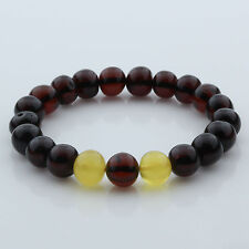 Adult Baltic Amber Bracelet Large Baroque Beads 10mm 10gr. BB103