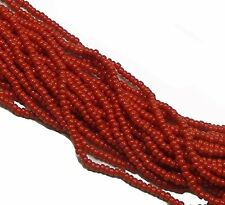 Opaque Dark Red Czech 11/0 Glass Seed Beads 1 (6 String Hank) Preciosa