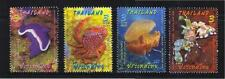 THAILAND 2015 MARINE CREATURES MALAYSIA JOINT ISSUE COMP. SET 4 STAMPS MINT MNH