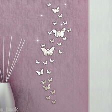 New 30PC Butterfly Combination DIY 3D Mirror Wall Stickers Home Decoration Art N