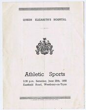 WESTBURY ON TRYM Queen Elizabeth Hospital Athletic Sports 1955 4 page Programme