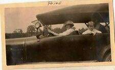 Old Vintage Antique Photograph Women and Child Riding In Antique Car Automobile