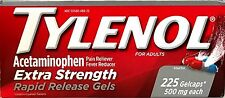 TYLENOL EXTRA STRENGTH 225 RAPID RELEASE GELS ACETAMINOPHEN 500 mg EX 01/18+