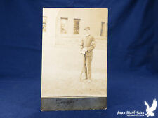 "RPPC US Army Corporal Portrait With Krag Rifle ""Sugar"""