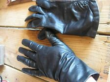 Vintage Leather Dress Gloves Lined Black Women's Size Small