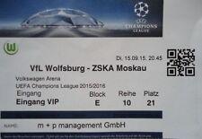 VIP TICKET UEFA CL 2015/16 VfL Wolfsburg - ZSKA Moskau
