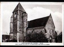 LEVIS (89) EGLISE / Carte postale au Profit des restaurations d'Eglise vers 1950