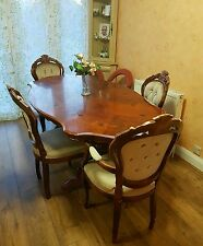 Italian(solid wood) dinning table and 4 chairs (cream)