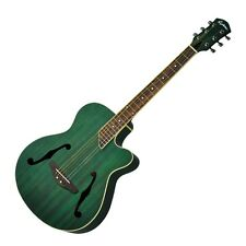 New Martinez Acoustic-Electric Jazz Hybrid Small-Body Cutaway Guitar (Green)