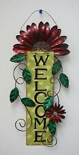 Attraction Design Metal Artisanal Daisy Welcome Sign Wall Art/Front Door Decor