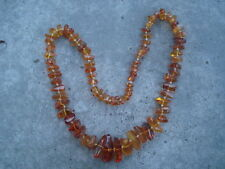 Bernstein Kette Real Baltic Amber 90 g Big Beads 75 cm