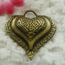 Free Ship 20 pieces bronze plated heart pendant 34x33mm #622