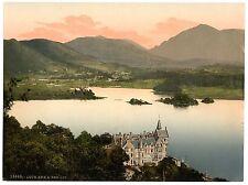 2 Repro de imágenes de Loch Awe hotel Ben lui & kilchurn Castillo Escocia Fotos Antiguas
