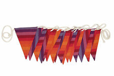 Sterck - 100% Cotton Bunting - Chihuahua - Bright Stripes - 7m Rope - 17 flags