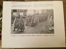 75-3 ephemera ww1 picture 1916 picture funeral german oficer france