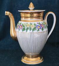 Antique Early 19th Century Paris Porcelain Empire Ware Coffee Pot