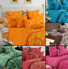 100% Cotton Twin Queen King Size Decorative Duvet Cover with Pillow Cover-2745