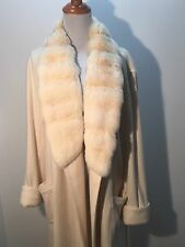 LORO PIANA White Ivory Chinchilla Fur And Cashmere Robe! NWT
