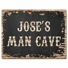 PP1632 JOSE'S MAN CAVE Plate Chic Sign Home Room Garage Decor Birthday Gift