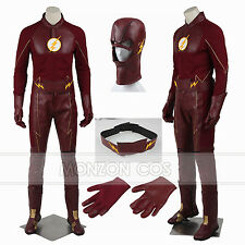 The Flash Season 2 Superhero Barry Allen Cosplay Costume Full SIZE