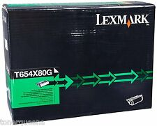 New! Genuine Lexmark T654 T656 Printer Extra High Yield Toner Cartridge T654X80G
