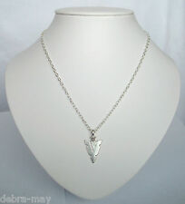 "Tribal Arrowhead Pendant 18"" Chain Necklace in Gift Bag ~ Ethnic Boho Hippy"