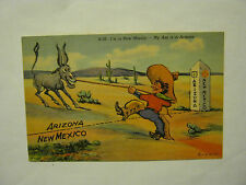 I'm In New Mexico, My Ass Is In Arizona Humor 1930's  Post Card (GS19-55)