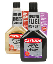 Carlube Diesel Injector Cleaner & Engine Flush Fuel Additives - TWINPACK - 300ml