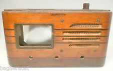 vintage WESTINGHOUSE WR 472 Coin Operated RADIO: WOOD SHELL w/ GRILL CLOTH