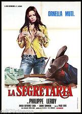 LA SEGRETARIA MANIFESTO CINEMA CASARO ORNELLA MUTI SEXY ITA 1974 MOVIE POSTER 2F