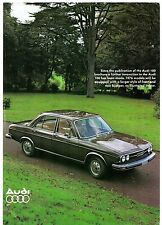 Audi 100 Saloon 'Big Bumper' 1976 UK Market Addendum Leaflet Sales Brochure
