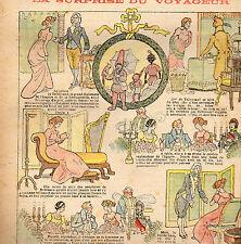 LA SEMAINE DE SUZETTE N° 51, Janvier 1909, BLEUETTE ROBE D'HIVER SUITE