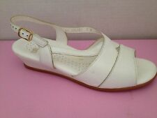SAS Shoes Womens Size 9 W White Sandals Wide Width 9W Made in USA