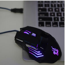 5500 DPI 7 Button LED Optical USB Wired Gaming Mouse Mice For PC Gamer Firm
