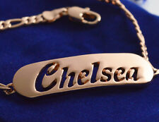 Name Bracelet CHELSEA 18ct Rose Gold Plated Bridesmaid Personalised Sister Gifts