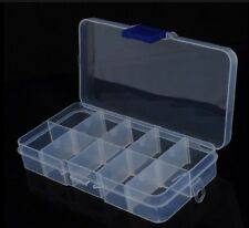 10 Cells Screws Washers Tools Components Parts Storage Box Case