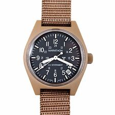 US Issue General Purpose Field Watch Date Marathon Swiss Tan, New Box + warranty