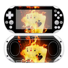 PS VITA 2000 PlayStation Skin Design Foils Aufkleber Schutzfolie - Burning Cards