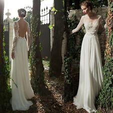 Manches longues robes de mariage blanc robe de mariée en dentelle à encolur