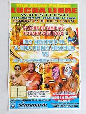 LUCHA LIBRE SIGNED Event Poster 11x17 Rey Misterio Sr Hijo MORE Ring Used wwe
