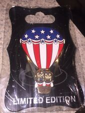 Disney Pin Wdi Le 250 Up Carl And Ellie Hot Air Baloon 4th Of July Independence