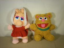 1987 Muppet Baby Christmas Plushes Vintage Fozzy and Miss Piggy