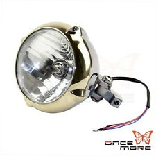 New 5.5 Inch Vintage SOLID BRASS & ALLOY Headlight For Harley Dyna Cruisers Bike