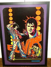 ELVIS PRESLEY ORIGINAL BLACK LIGHT POSTER FRAMED 1975
