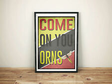 Watford FC A3 Picture Art Poster Retro Style 2 Print WFC