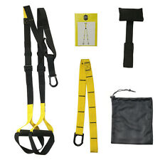 SUSPENSION crossfit straps trainer home workout muscle strength gym