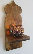MOROCCAN STYLE WALL SCONCE CANDLE HOLDER & GOLD FILIGREE TEA LIGHT HOLDER