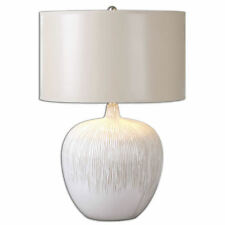 """Georgios Textured Ivory/White Ceramic Table Lamp 23""""H by Uttermost 26194-1"""